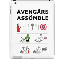 Superheroes Assembling - Colour iPad Case/Skin