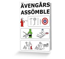 Superheroes Assembling - Colour Greeting Card