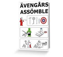 Superheroes Assembling - Colour Greeting Card