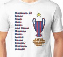 Barcelona 1992 European Cup Final Winners Unisex T-Shirt