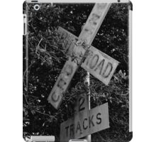 Railroad Crossing BW iPad Case/Skin