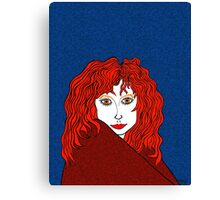 Blue, White, and Redheads Rock Canvas Print