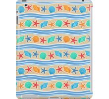Sand And Blue Colorful Shells Pattern iPad Case/Skin