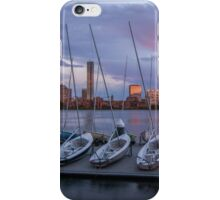 Back Bay sunset rainbow in Boston, Massachusetts. iPhone Case/Skin