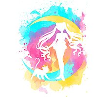 Happy Guardian Sailor Moon Photographic Print
