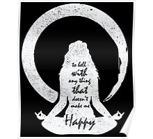 yoga shirt with sayings for women Poster