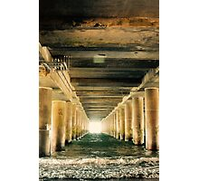 Follow the Waves of Atlantic Ocean. Do You Hear? The Other Side of the Tunnel is Called World.  Photographic Print
