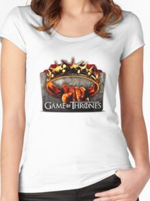 GAMES OF TRHONES Women's Fitted Scoop T-Shirt
