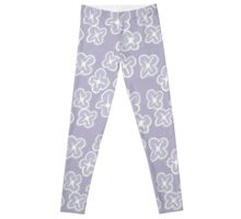 Pale Lavender Floral Pattern Leggings