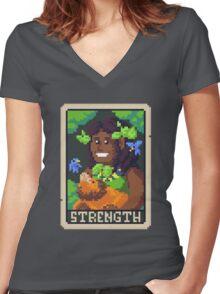 Strength Tarot - Derowen Women's Fitted V-Neck T-Shirt