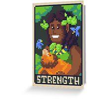 Strength Tarot - Derowen Greeting Card
