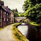 Canal Bridge Oil Painting Effect 01 by Glen Allen
