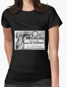 Clock and Watchmaker Womens Fitted T-Shirt