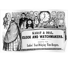 Clock and Watchmaker Poster