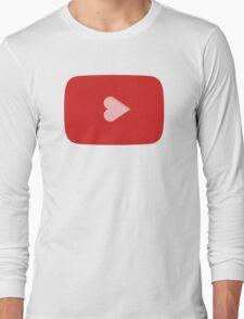 YouTube Heart Button Long Sleeve T-Shirt
