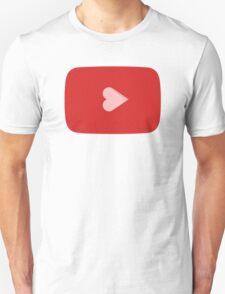 YouTube Heart Button Unisex T-Shirt