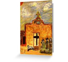 Picture Day at the Mission Greeting Card