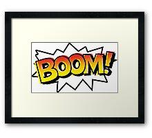 BOOM! Comic Onomatopoeia Framed Print