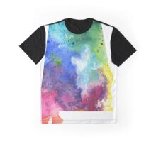 Watercolor Map of Alabama, USA in Rainbow Colors - Giclee Print of My Own Watercolor Painting Graphic T-Shirt