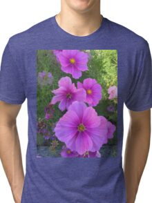 Purple flower  Tri-blend T-Shirt