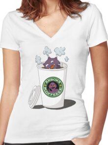 Koffeeeeeeeeee Women's Fitted V-Neck T-Shirt