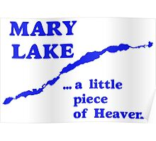 Mary Lake a little piece of heaven Poster