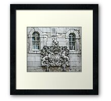 Royal Coat of Arms on the Tower of London Entrance Framed Print