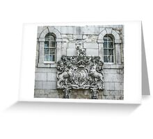 Royal Coat of Arms on the Tower of London Entrance Greeting Card