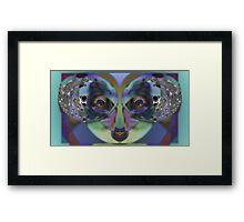 Perception, Upside Down Art Face Art by L. R. Emerson II Framed Print