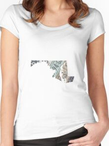 Vintage Maryland License Plates Women's Fitted Scoop T-Shirt