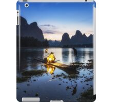 Cormorant Fisherman at Night iPad Case/Skin