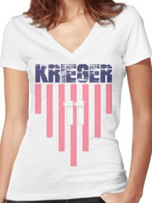 Ali Krieger #11 | USWNT Olympic Roster Women's Fitted V-Neck T-Shirt