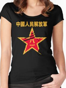 People's Liberation Army logo Women's Fitted Scoop T-Shirt