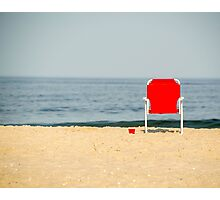 Red Solo Chair Photographic Print