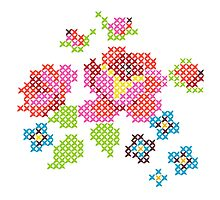 Cross Stitch Spring Photographic Print