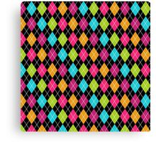 Colorful Argyle Canvas Print