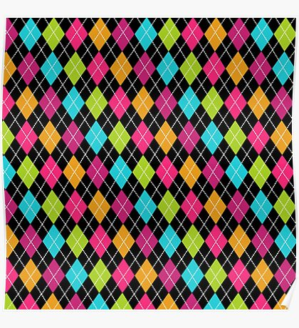Colorful Argyle Poster