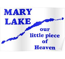 Mary Lake Our Little Piece of Heaven Poster