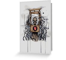 Guillotine Heart Greeting Card