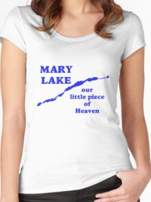 Mary Lake Our Little Piece of Heaven Women's Fitted Scoop T-Shirt