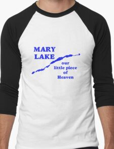 Mary Lake Our Little Piece of Heaven Men's Baseball ¾ T-Shirt