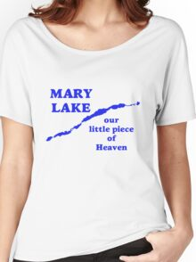 Mary Lake Our Little Piece of Heaven Women's Relaxed Fit T-Shirt