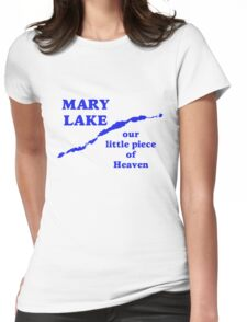 Mary Lake Our Little Piece of Heaven Womens Fitted T-Shirt