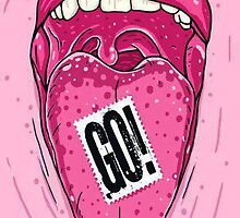 Go! On Tongue Phone Case by Mackenzie Ball