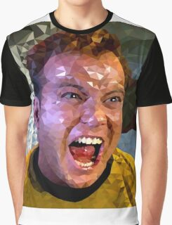Captain Kirk Polyart Graphic T-Shirt