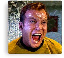 Captain Kirk Polyart Canvas Print