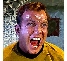 Captain Kirk Polyart Photographic Print