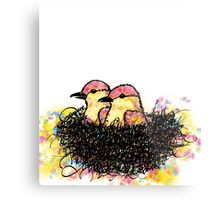 Two chicks in a nest Metal Print