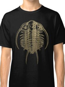 Fossil Record - Golden Trilobite on Black #2 Classic T-Shirt