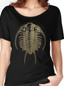Fossil Record - Golden Trilobite on Black #2 Women's Relaxed Fit T-Shirt